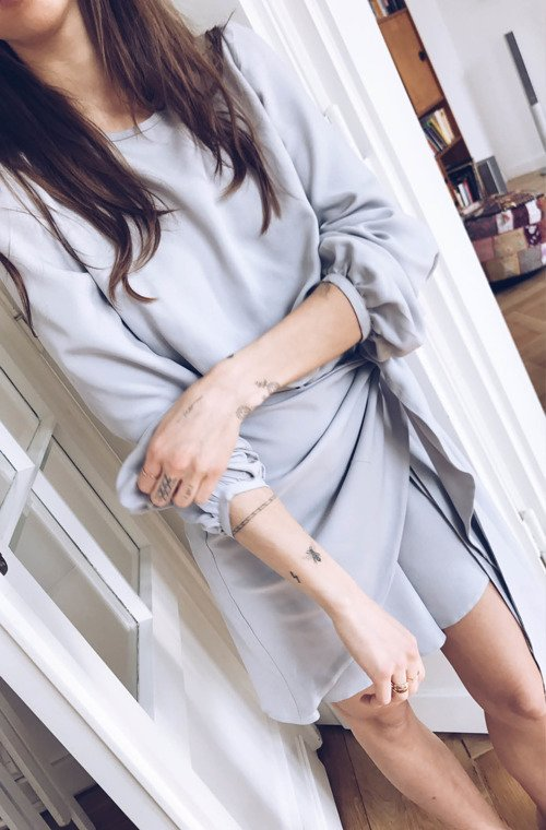 ERIKA DRESS GRAY